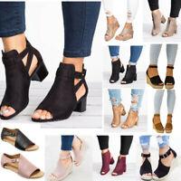 Damen Wedges High/Midi Heels Pumps Absatzschuhe Sandaletten Sandalen Abendschuhe