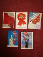 Lot of postcards USSR Revolution Russia Lenin Propaganda
