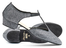 Leather or Glitter Dance Greek Sandal Jive Ceroc Salsa Shoe By Katz All Colours