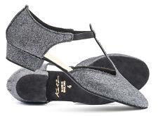 Purpurina Danza Griego Sandalia Jive Cierre Salsa Zapato Por KATZ Todos Colores