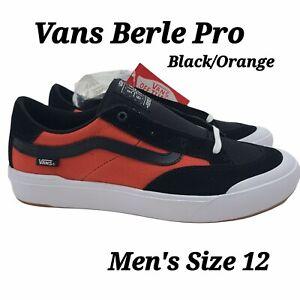 Vans Elijah Berle Pro Black Orange Men's Size 12 Skate Sneaker Shoes NEW