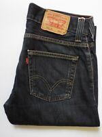 LEVI'S 506 JEANS MEN'S STANDARD STRAIGHT LEG W32 L30 DARK BLUE STRAUSS LEVR322