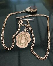 Vintage 9ct Gold Double Albert Pocket Watch Chain