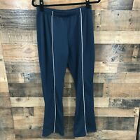 Nike Dri fit Women's Navy & White Striped Warmups Ankle Zip Size Med (8-10)