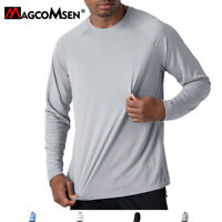 Men's Dri Fit UV Sun Protection T-shirt Long Sleeve Sun Block Workout Shirt Tops
