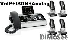 """►► Gigaset DX800A VoIP - ISDN - Analog """"All in one"""" + 4 Mobilteile C430H ◄◄"""