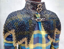 Chain Mail Collar (neck protection) 9 MM Flat Riveted With Brass Ring Zigzak