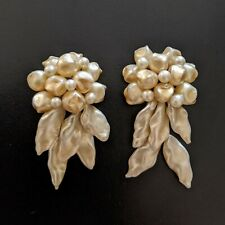 Ancien French Louis Rousselet boucles d'oreilles à clips verre  40s Earrings