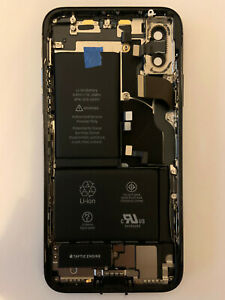 Apple iPhone X Black original frame housing for parts read