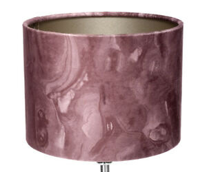 Tischleuchte Vintage Design Lampshade IN Marble Look Table Lamp Suede New
