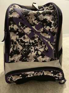 Boombah Baseball Softball Bat Bag Backpack Purple & Camo