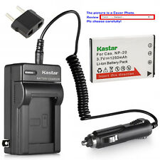 Kastar Battery AC Charger for Casio NP-20 BC-11L & Casio Exilim EX-Z11 EX-Z12
