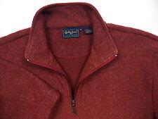 BOBBY JONES MENS XL 1/2 ZIP WINTER GOLF FLEECE SWEATER RED LOGO RARE MADE IN USA