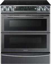 Samsung Ne58K9850Wg 30 Inch Smart Flex Duo Slide-In Electric Range WiFi Connect.