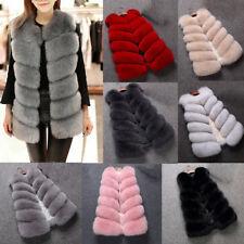 Faux Fox Fur Vest Women Gilet Whole Luxury Waistcoat Gift Coat Jacket Outwear