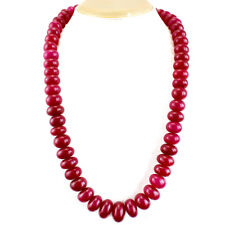 World Class 922.05 Cts Natural Round Shape Rich Ruby Necklace Gemstone 19x10 mm