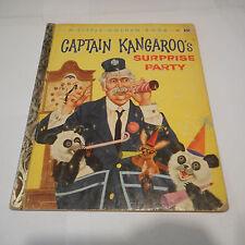 CAPTAIN KANGAROO'S SURPRISE PARTY #341 1958A Panda rabbit LITTLE GOLDEN BOOK