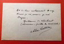 Alexandre CELLIER - Lettre autographe signée