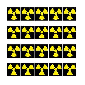 20 Aufkleber 1cm Radioaktiv Strahlung Symbol Zeichen Mini Sticker RC Modellbau