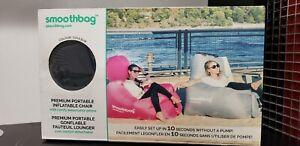 NWT Smoothbag Black Portable Inflatable Lounging Sofa