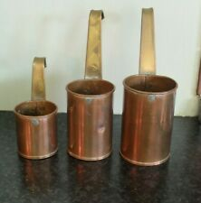 More details for early 20th century three copper and brass measures