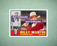 Billy Martin Cincinnati Reds 1960 Style Custom Art Card