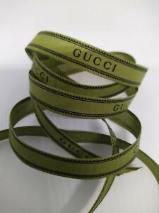 New Green Gucci Linen Ribbon 1.5CM (W) X 2 METRE