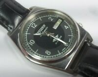 Vintage Citizen Automatic Movement Day Date Dial Mens Analog Wrist Watch A213