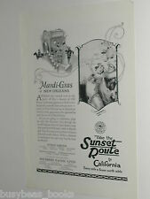1924 Southern Pacific Lines advertisement, Mardi Gras New Orleans parade costume