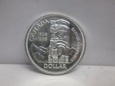 1958 BRITISH COLUMBIA CANADIAN SILVER ONE DOLLAR COIN