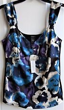 NWT~ANN TAYLOR Ladies Floral V-Neck Sleeveless Top, Shirt, Blouse-Size Medium