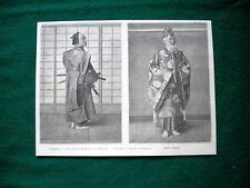 Giappone nel 1895 -  gli antichi militari, un Samurai ed un prete Shinto