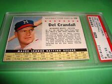 1961 Post Cereal #110 DEL CRANDALL  psa 6  Milwaukee BRAVES  HC (157) 3 better