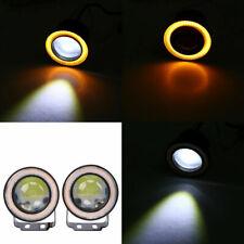 "3"" Inch Car Projector LED Fog Light Halo Yellow Angel Eye Ring Bulb High Power"