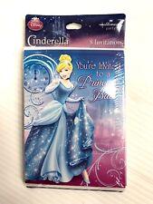 Cinderella Sparkle Disney Princess Kids Birthday Party Invitations w/ Envelopes
