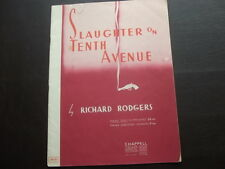 """Sheet music-""""Slaughter on Tenth Avenue """" - Piano Solo"""