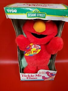 Vintage Tickle Me Elmo Doll New in Box 1996 Sesame Street Original Tyco