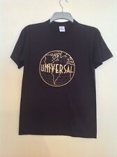 Universal Studios ladies black Graphic T shirt gold embroidered design size S