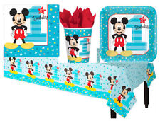 Mickey First Birthday Party Pack of 33pc ~ Baby Mickey Plates Cups and Napkins