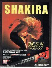 PUBLICITE ADVERTISING 116  2011   Shakira en concert à Bercy & Radio Nrj