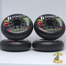Retro Kryptonics D-Stroyer 76Mm 78A Black street roller hockey wheels set of 4