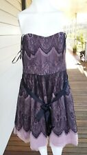 City Chic Dusty Rose Lace Strapless Ladies Dress Size M With Tags