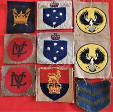 AUSTRALIAN ARMY WW2 TO VIETNAM WAR UNIFORM INSIGNIA PATCH BADGES