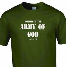 Army of God Military Battle  T-Shirt Christian Religious Tee God Inspirational
