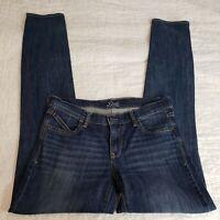 OLD NAVY Sz 6 Tall Dawn Diva Skinny Stretch 35 Inseam Long Blue Denim Jean Pants