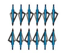 12Pack 125 Grain Archery Broadheads 3 Blade Arrow Hunting Arrow Screw-in  Points