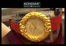 """Mondaine Trachtenuhr """"""""Gruezi"""""""" Orologio da Collezione, Swiss Made, Placcato Oro"""