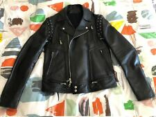 Balmain leather biker jacket size 50