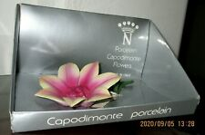 NEW CAPODIMONTE PURPLE PORCELAIN FLOWER