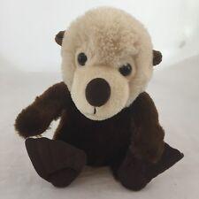 """The Petting Zoo Sea Otter Plush Brown Cream Stuffed Animal Toy 1994 9"""""""